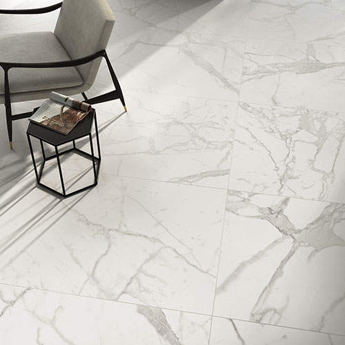 Beautiful, precious and durable: marble-effect porcelain stoneware never falls out of fashion