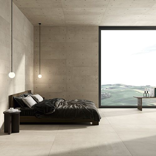 Concrete effect for contemporary environments with a minimalist style